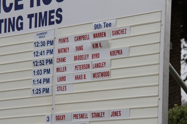 US Open Practice Day Schedule