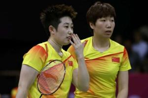 Chinese badminton players