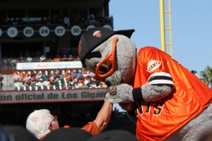 Lou Seal makes his move.