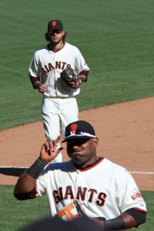 Brandon Crawford and Pablo Sandoval
