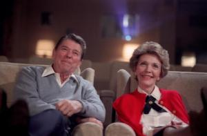The Reagans at the movies