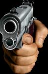 Hand holding gun