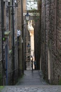 A 'close' off the Royal Mile, Edinburgh