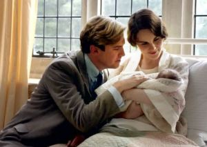 Downton Abbey -- Mary, Matthew and baby