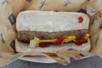 A very sad spring training bratwurst. Must be the Arizona heat that shrunk it.
