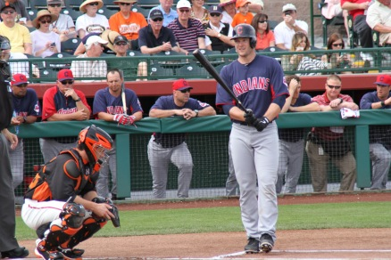 Indians catcher Lou Marson. More photos of him to come...