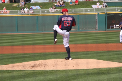 Justin Masterson pitched four scoreless innings.