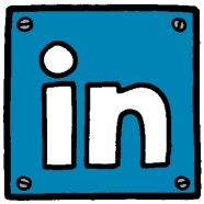 LinkedIn Cartoon icon