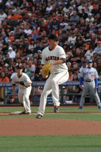 San Francisco Giants pitcher Matt Cain on the mound, May 5, 2013.