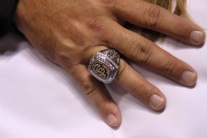 San Francisco Giants veteran first baseman Will Clark's World Series ring.