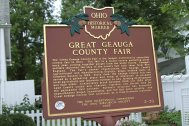 Plaque for the Great Geauga Count Fair, oldest continuous county fair in Ohio.
