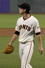 San Francisco Giants pitcher Tim Lincecum enters the dugout at AT&T Park in San Francisco, CA. September 9, 2013.