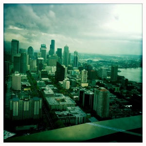 View of Seattle and Puget Sound from the Space Needle