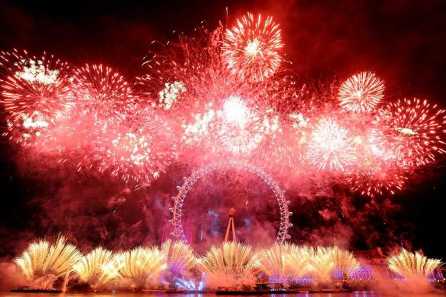 Fireworks as London rings in 2013.