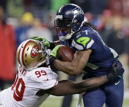 The Seattle Seahawks defeated the San Francisco Giants in the NFC Championship, January 19, 2014