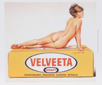 Mel Ramos poster of Velvetta package