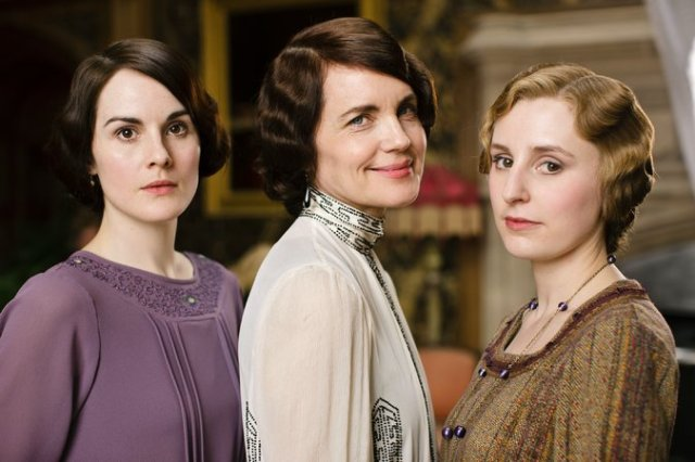 Downton Abbey's Lady Mary Crawley,  Cora Crawley, Countess of Grantham and Lady Edith Crawley