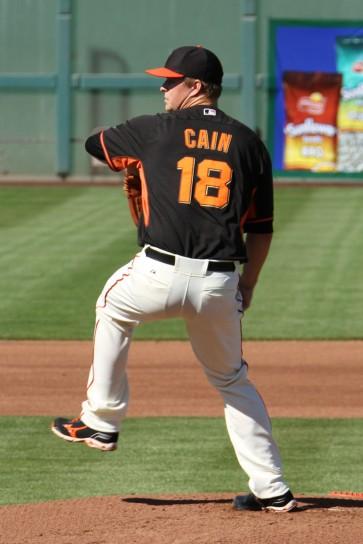 San Francisco Giants starting pitcher Matt Cain, Spring Training, Scottsdale AZ. March 15, 2014.