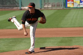San Francisco Giants pitcher Matt Cain, Spring Training, Scottsdale AZ. March 15, 2014.