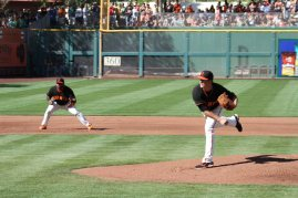 San Francisco Giants pitcher Matt Cain, Spring Training, Scottsdale AZ. March 15, 2014.