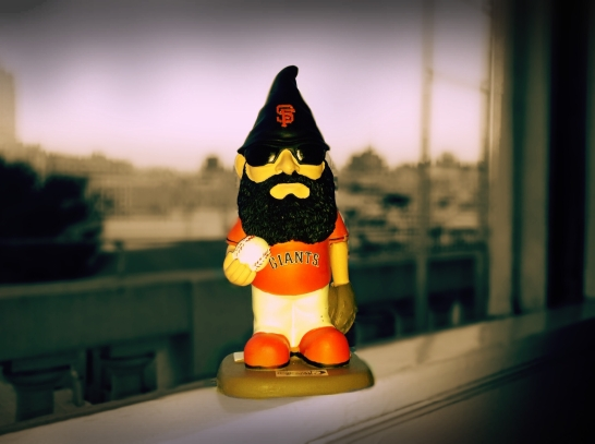 A San Francisco Giants promotional giveaway: Brian Wilson Gnome (2012)