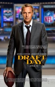 """Draft Day"" movie poster, featuring Kevin Costner"