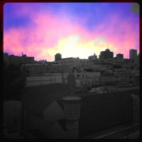 Sunrise, Russian Hill. San Francisco, CA.