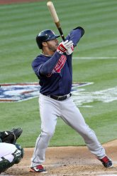 Cleveland Indians 3rd baseman Mike Aviles, Oakland Coliseum, April 2, 2014