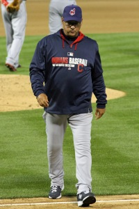 Cleveland Indians manager Terry Francona. Oakland Coliseum. April 2, 2014.