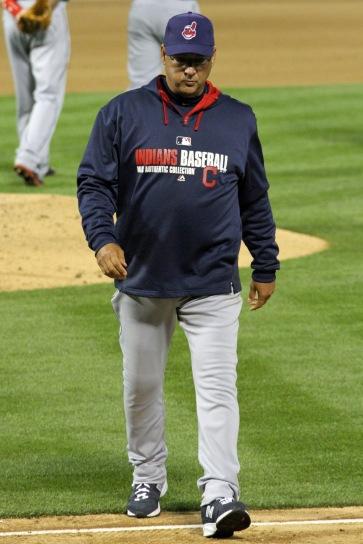 Cleveland Indians manager Terry Francona. Oakland Coliseum. April 2, 2014.