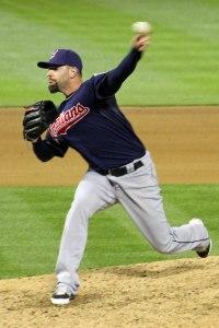 Cleveland Indians reliever Cody Allen at Oakland Coliseum. April 2, 2014.