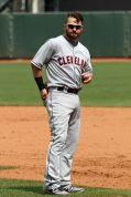 Cleveland Indians first baseman Nick Swisher, AT&T Park. April 26, 2014.