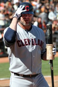 Cleveland Indians designated hitter Jason GIambi at AT&T Park. April 26, 2014