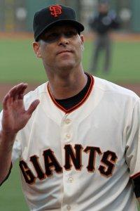 San Francisco Giants starting pitcher Tim Hudson at AT&T Park. May 27, 2014.