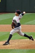 Indians starting pitcher Trevor Bauer at Safeco Field in Seattle, WA. (June 27, 2014)