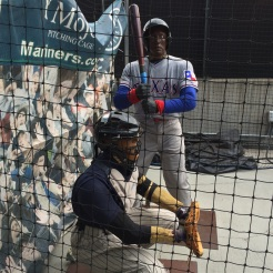 PItching cage at Safeco Field. Seattle, WA. (June 27, 2014)