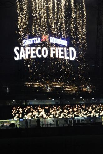 Fireworks night at Safeco Field, Seattle WA. (June 27, 2014)