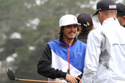 Rickie Fowler on practice day one, US Open 2012. The Olympic Club, San Francisco CA.