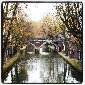A view of a canal in Utrecht, the Netherlands