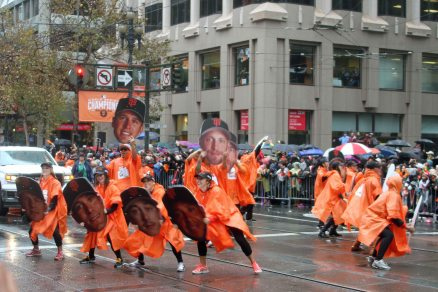Dancers in the World Series Victory Parade. San Francisco, CA. October 31, 2014