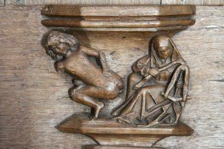 Wood carving in Amsterdam's Oude Kerk