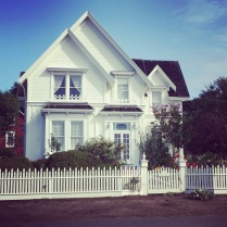 """Jessica Fletcher's house from """"Murder She Wrote"""" (1984-19960. It's now a B&B. Mendocino, California."""