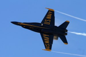 United States Navy Blue Angel. San Francisco Fleet Week 2015.