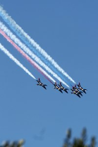 Patriots Jet Team Formation Demo. San Francisco Fleet Week 2015