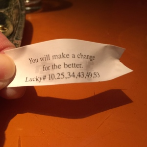 Fortune Cookie: Change is good