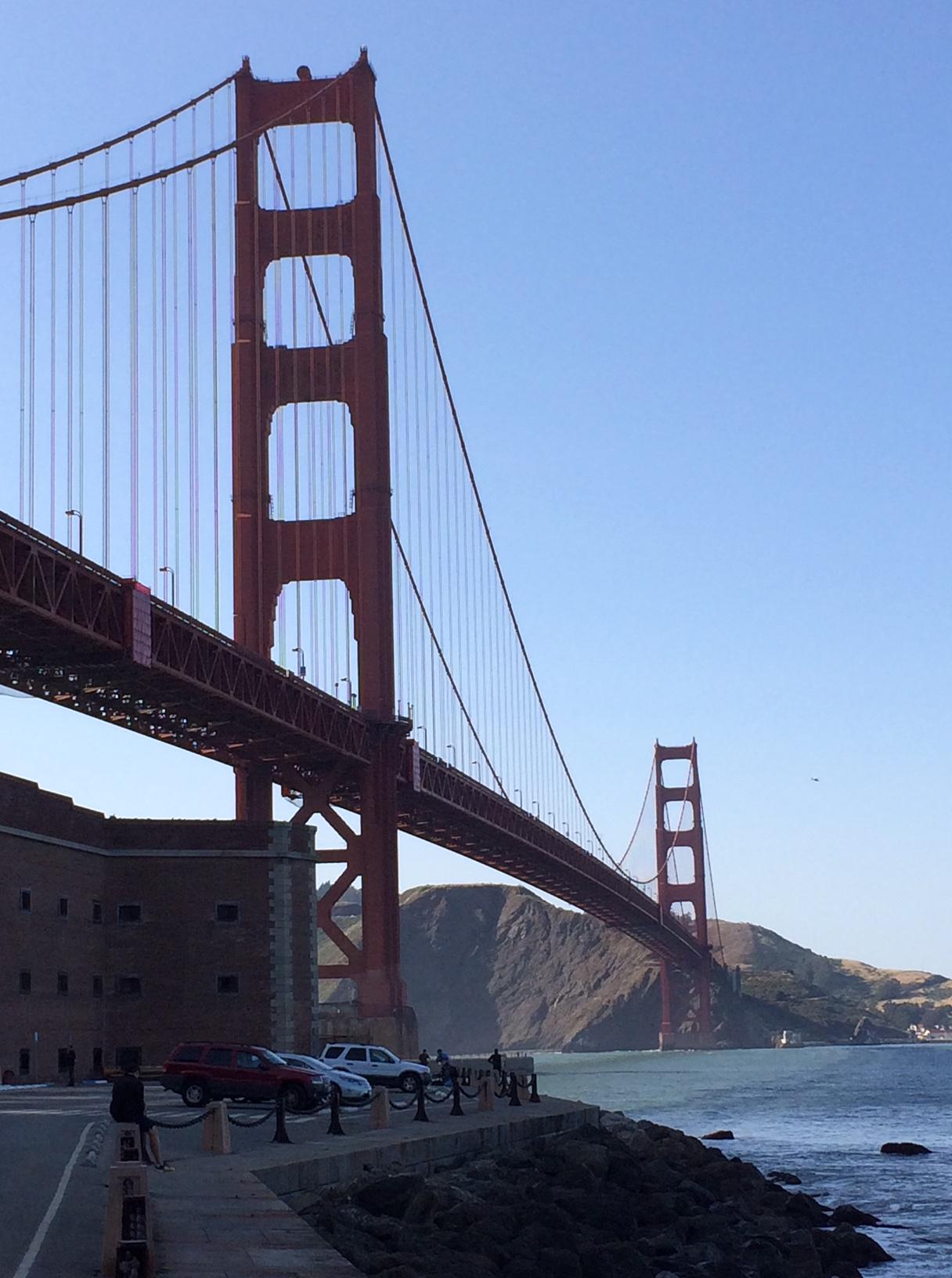 View of Golden Gate Bridge, San Francisco Bay