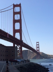 View of Golden Gate Bridge, San Francisco Bay